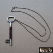 Large Key Necklace With Long Chain